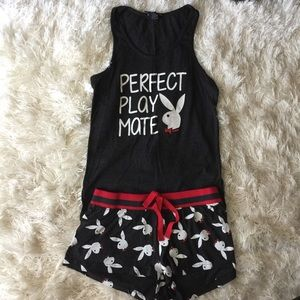 NWOT PLAYBOY BUNDLE pajama tank top and short set